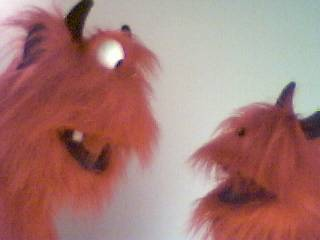 Revil & Sizzler puppets